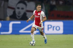 Sergino Dest of Ajax during the UEFA Champions League play off qualifying second leg match between Ajax Amsterdam and APOEL FC at the Johan Cruijff Arena on August 28, 2019 in Amsterdam, The Netherlands(Photo by VI Images via Getty Images)